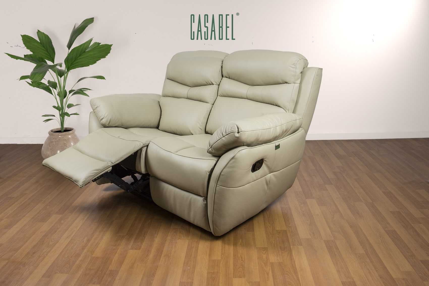 Terrific Casabel Alma Sofa Recliner 2 Kursi Beige Theyellowbook Wood Chair Design Ideas Theyellowbookinfo