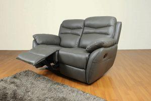 Sofa minimalis kulit asli recliner CASABEL Alma 2 Seater