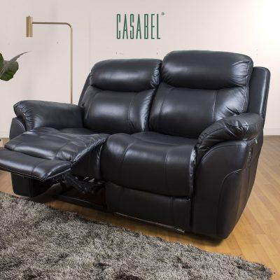 CASABEL Milagro Sofa Recliner 2 Kursi Black