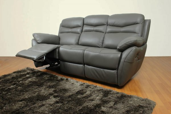 CASABEL Alma Sofa Recliner Kulit Minimalis Kursi Santai 3 dudukan / seater