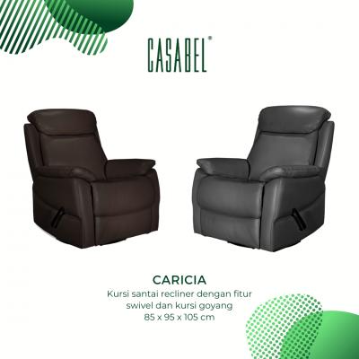 Kursi Santai Kulit Asli Recliner CASABEL CARICIA - DARK CHOCO
